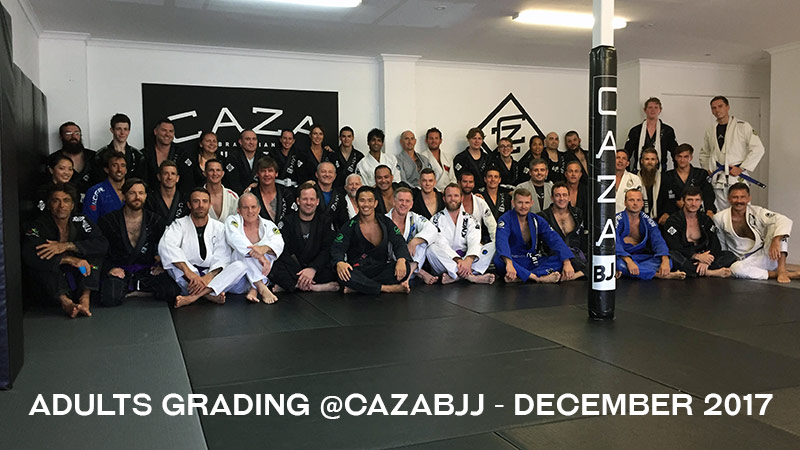 CAZA BJJ Grading December 2017 Team Photo