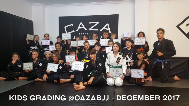 CAZA BJJ Kids Grading December 2017