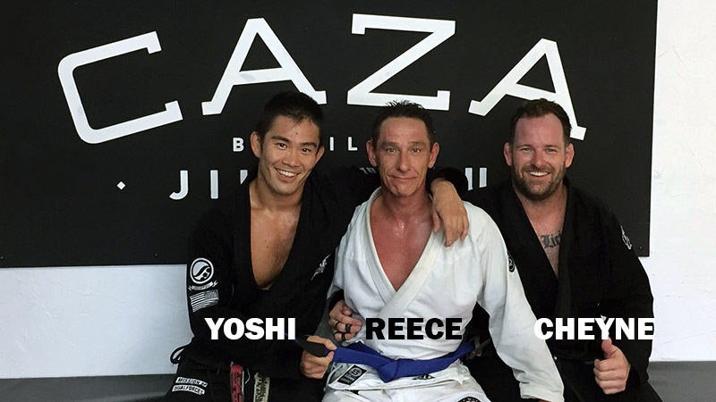 Reece Promoted to BJJ Blue Belt