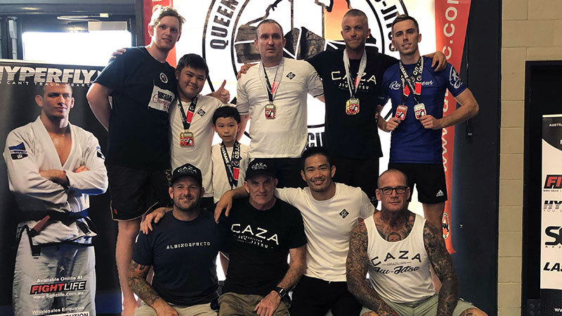 CAZA BJJ Team at the Brisbane Championships 2018