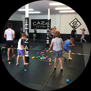 Kids Ball Game at CAZA Camp