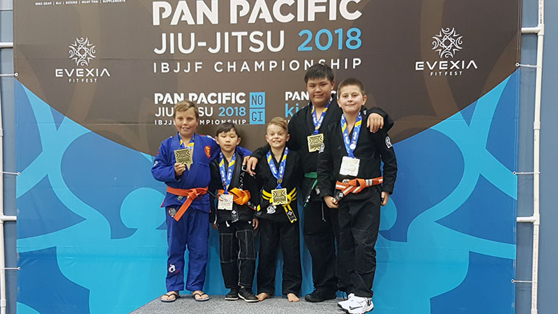 CAZA BJJ Kids Medals at the 2018 Pan-Pacs