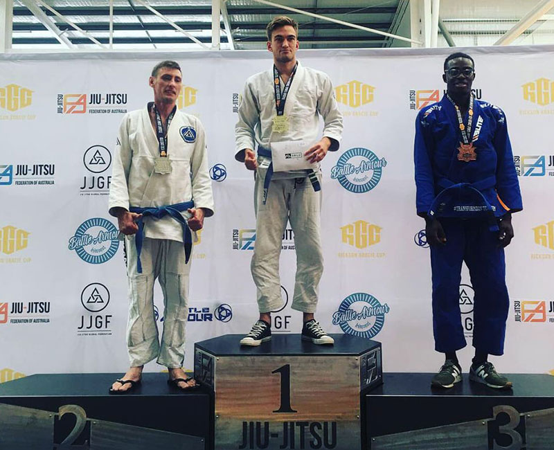 Erik Wins Gold Rickson Gracie Cup 2018