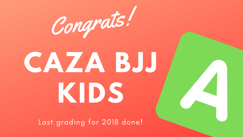 LAst CAZA BJJ Kids Grading For 2018
