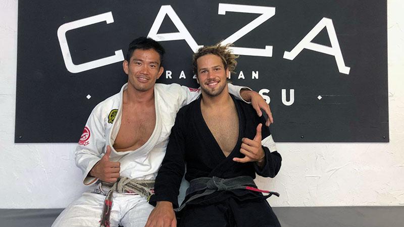 Yoshi Hasegawa with Magid Hage III