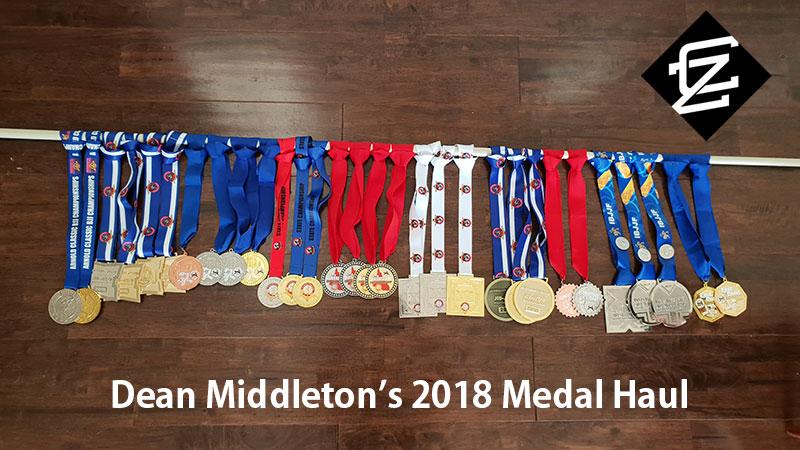 Dean Middleton's 2018 Medal Haul