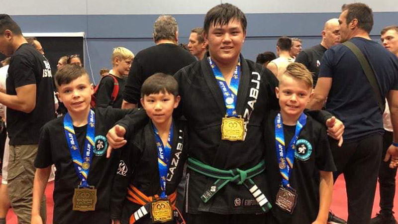 CAZA Kids at the 2019 IBJJF Pan Pacs