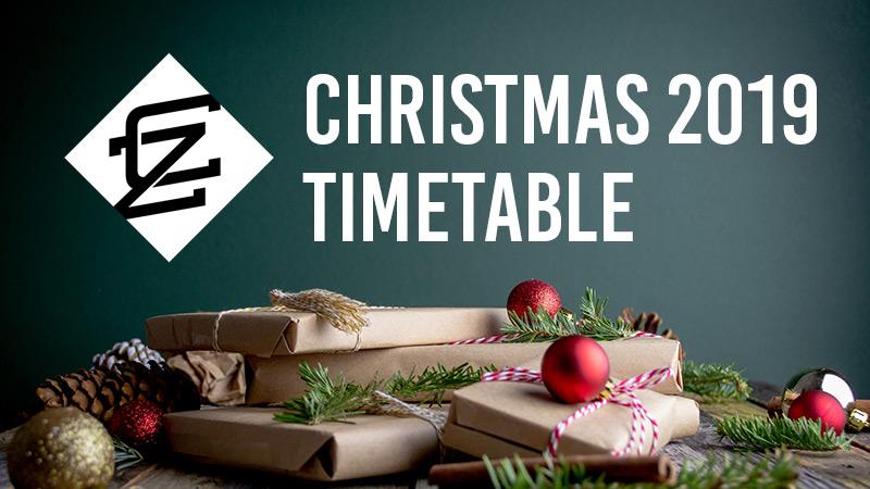 2019 Christmas Timetable CAZA BJJ Noosa