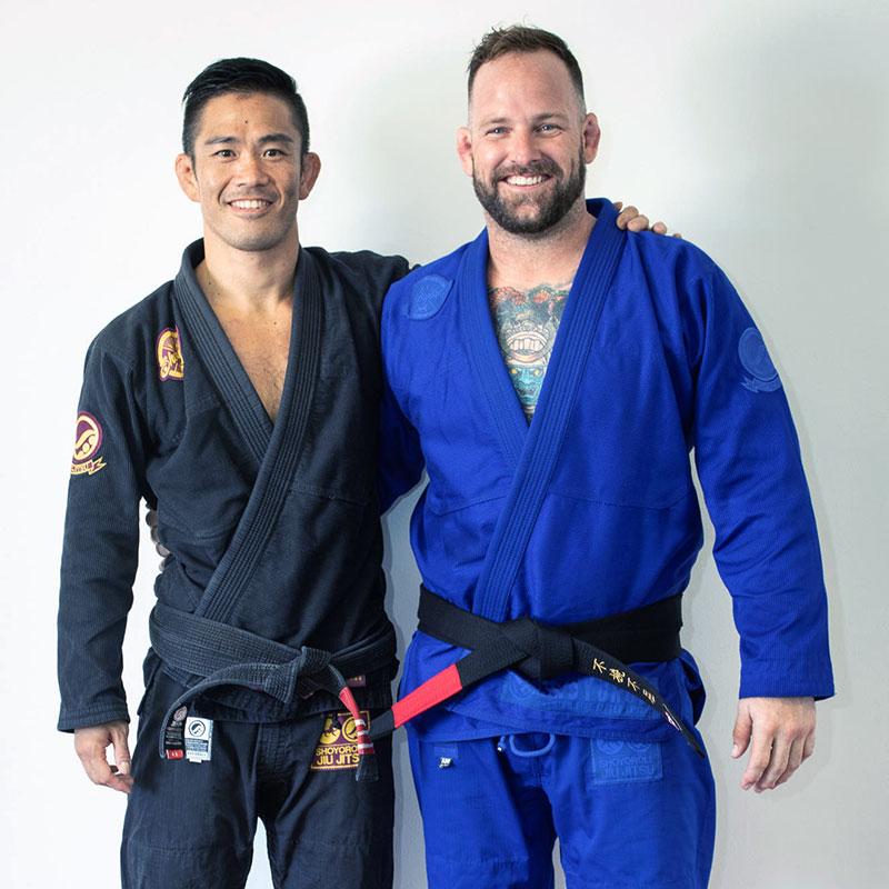 Professor Yoshi Hasegawa Promoting Cheyne Douglas to Black Belt