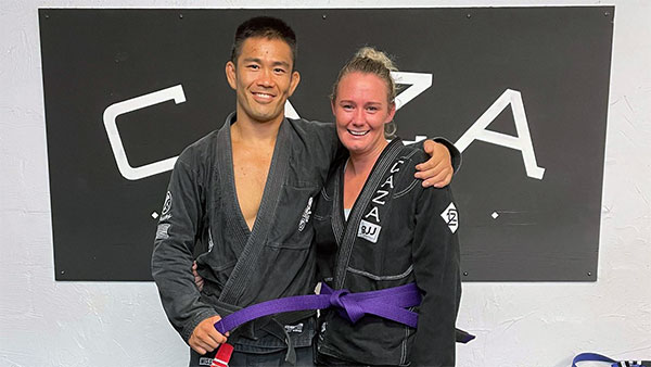 Amy McManus Getting Her Purple Belt