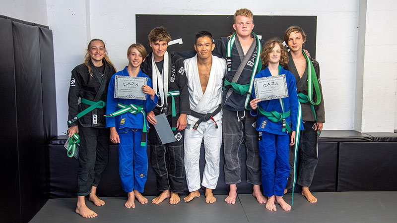 CAZA BJJ December 2020 Grading Green Belts
