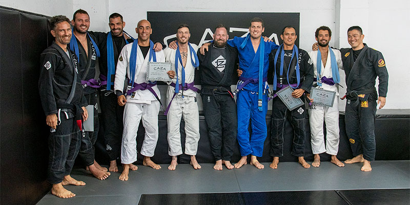 New CAZA BJJ Purple Belts